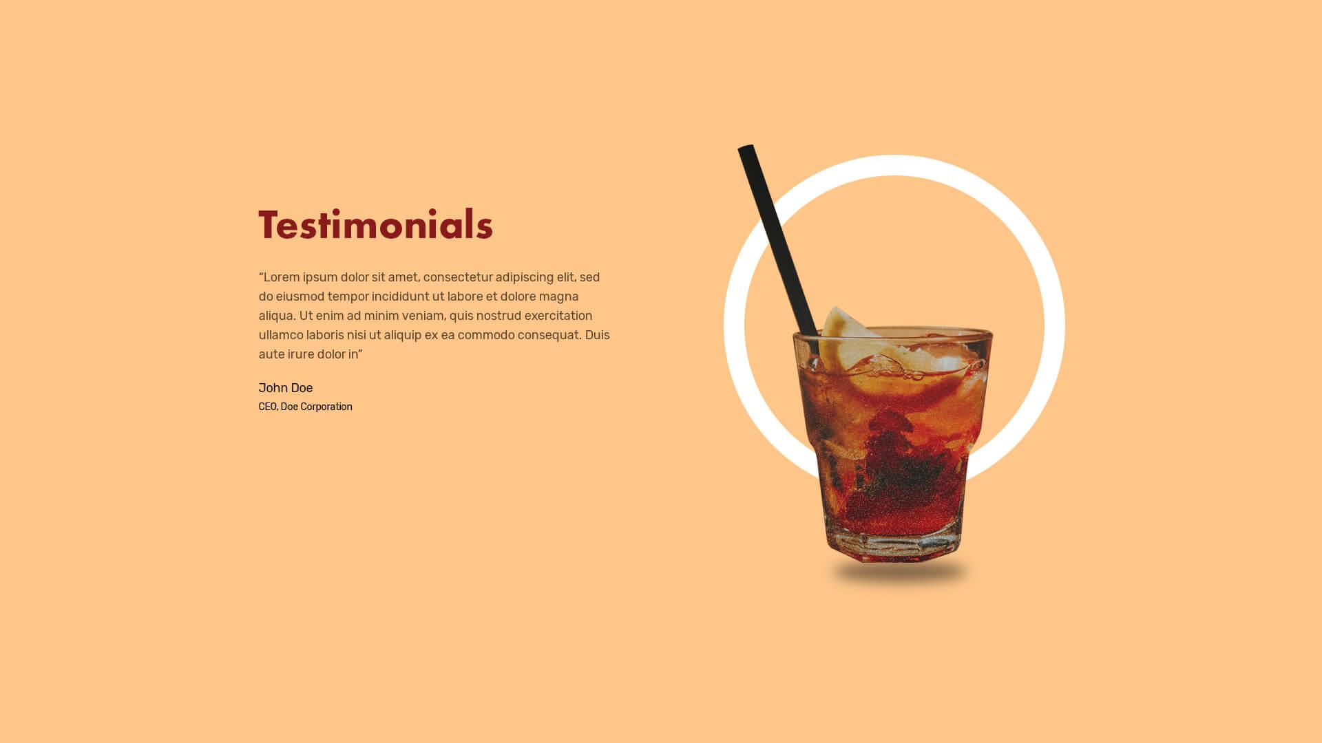 PowerPack Elements Template - Testimonials 1