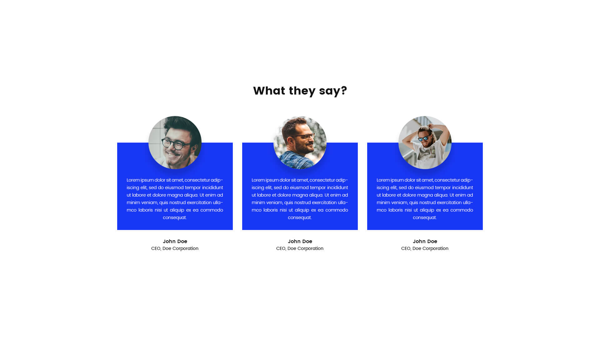 PowerPack Elements Template - Testimonials 3