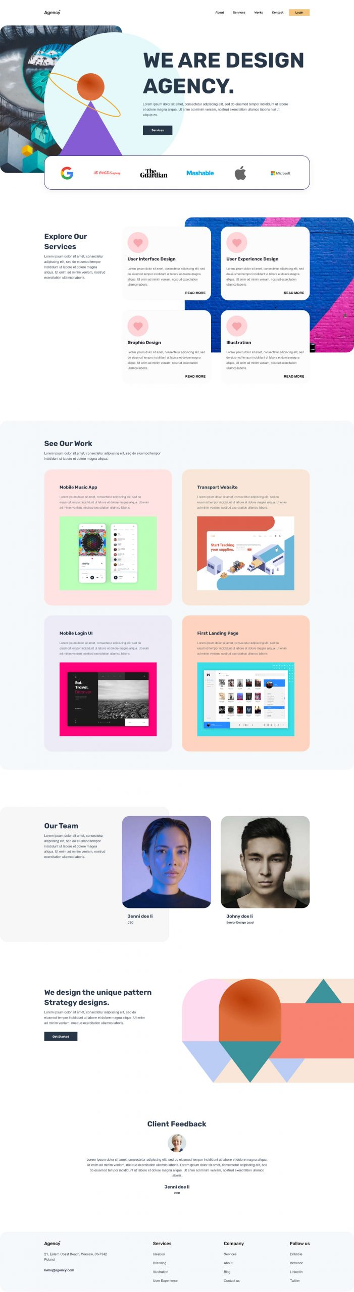 PowerPack Elements Template - Agency