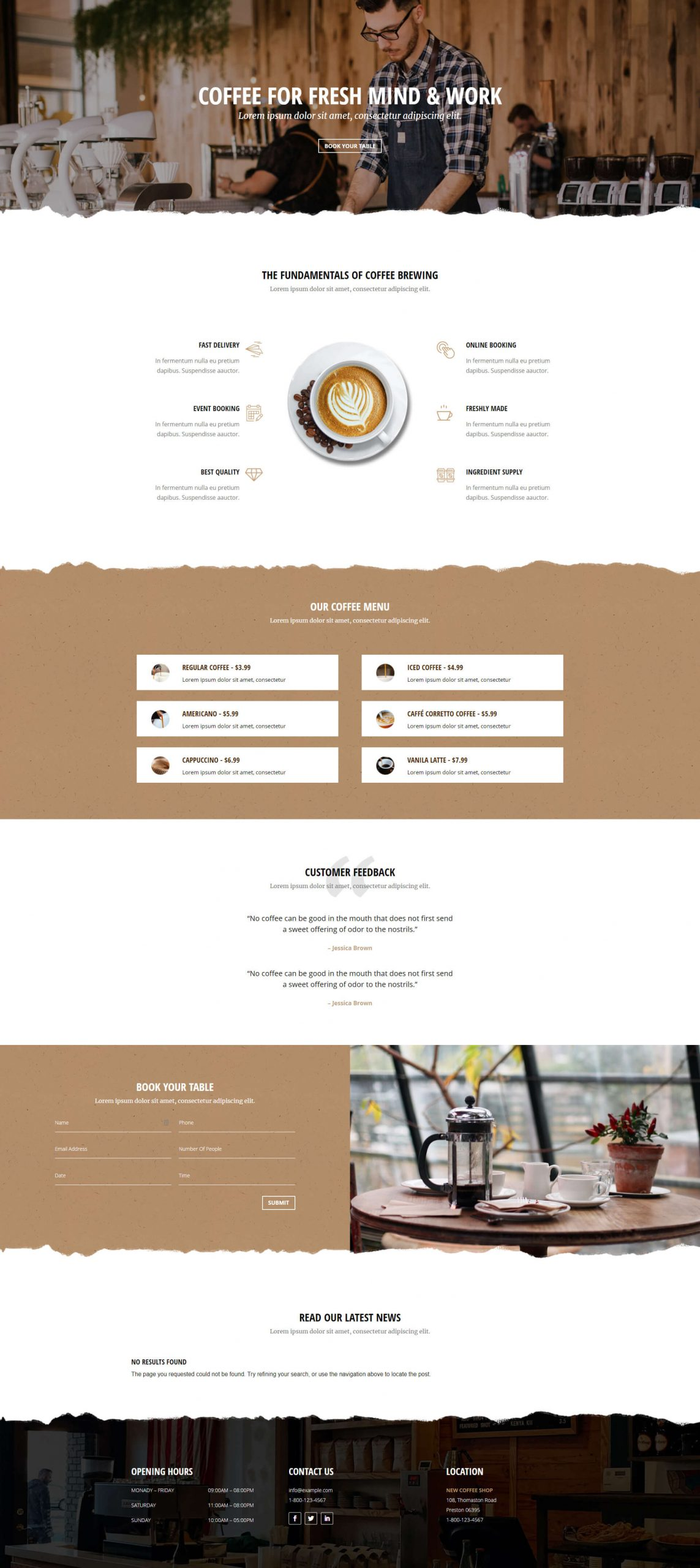 PowerPack Elements Template - Cafe Home