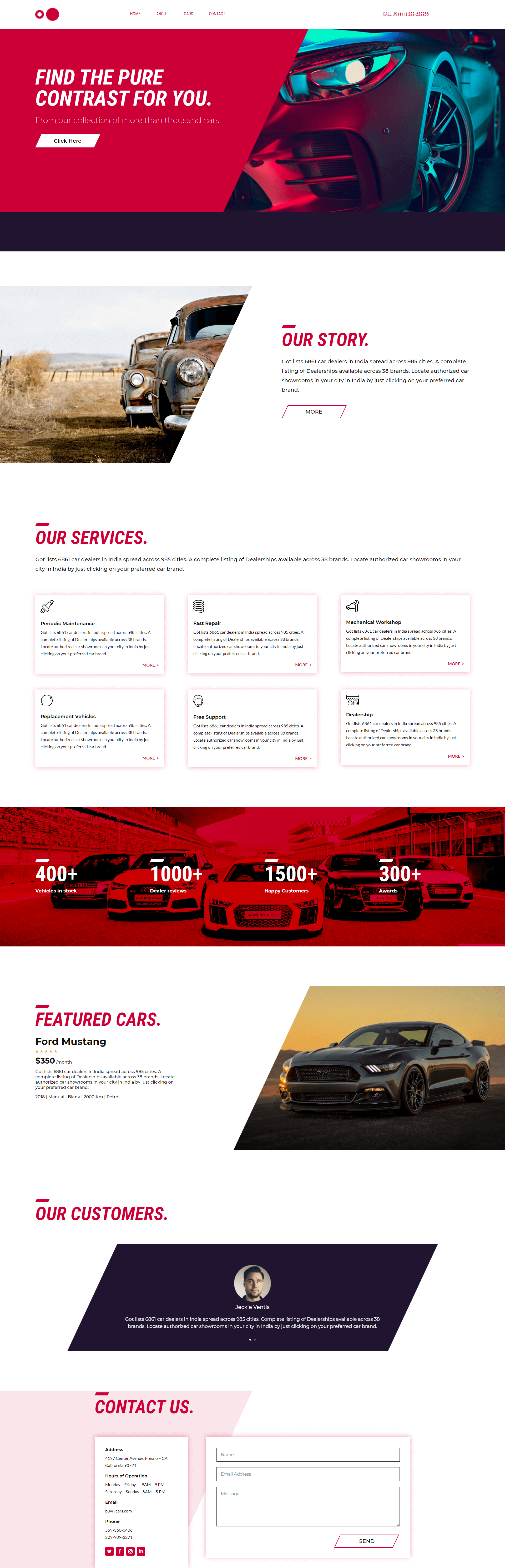 PowerPack Elements Template - Car Dealer