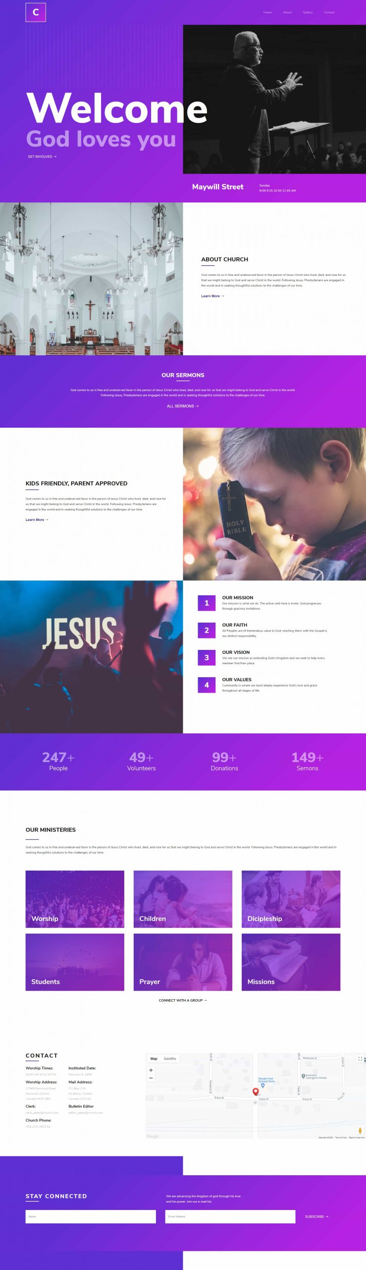 PowerPack Elements Template - Church