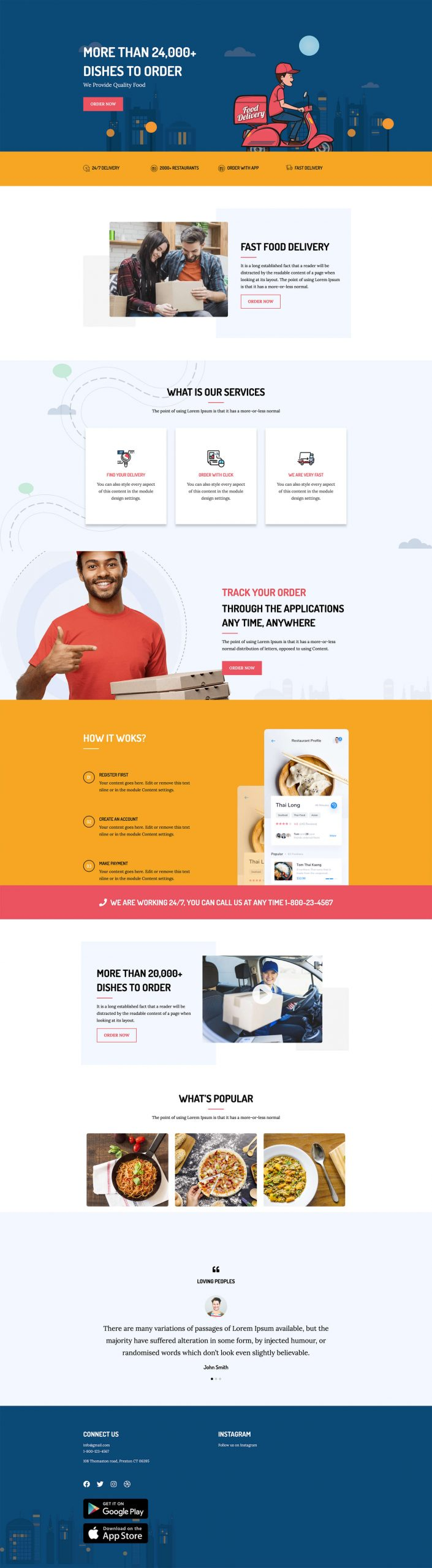 PowerPack Elements Template - Food Delivery