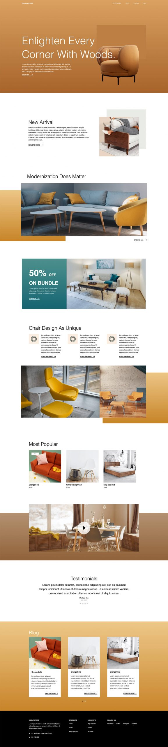 PowerPack Elements Template - Furniture