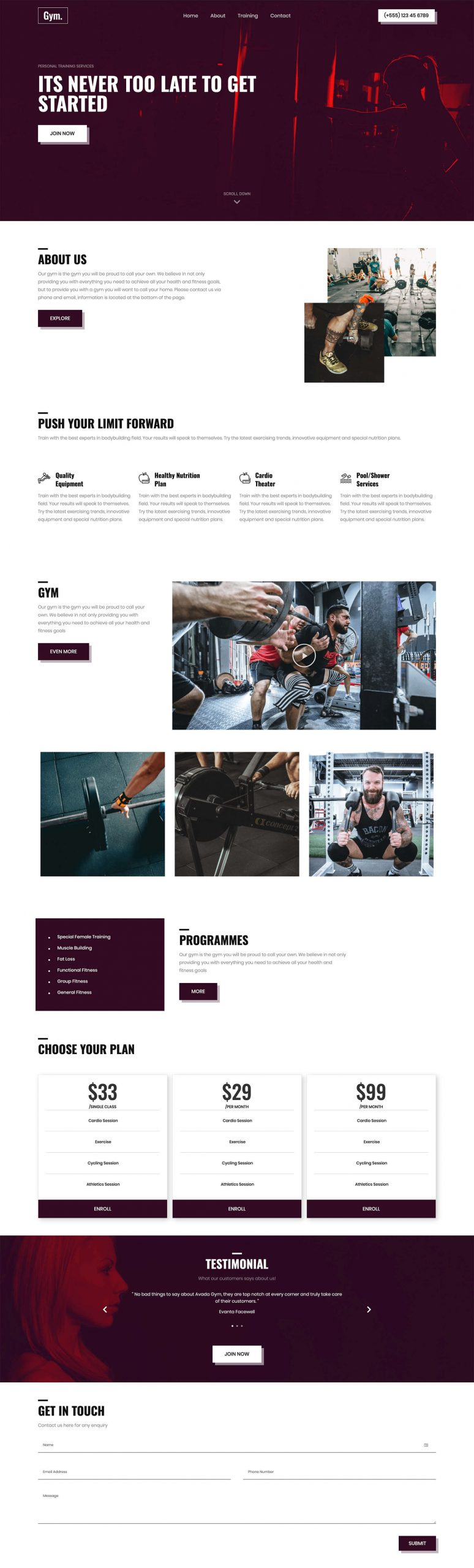 PowerPack Elements Template - Gym