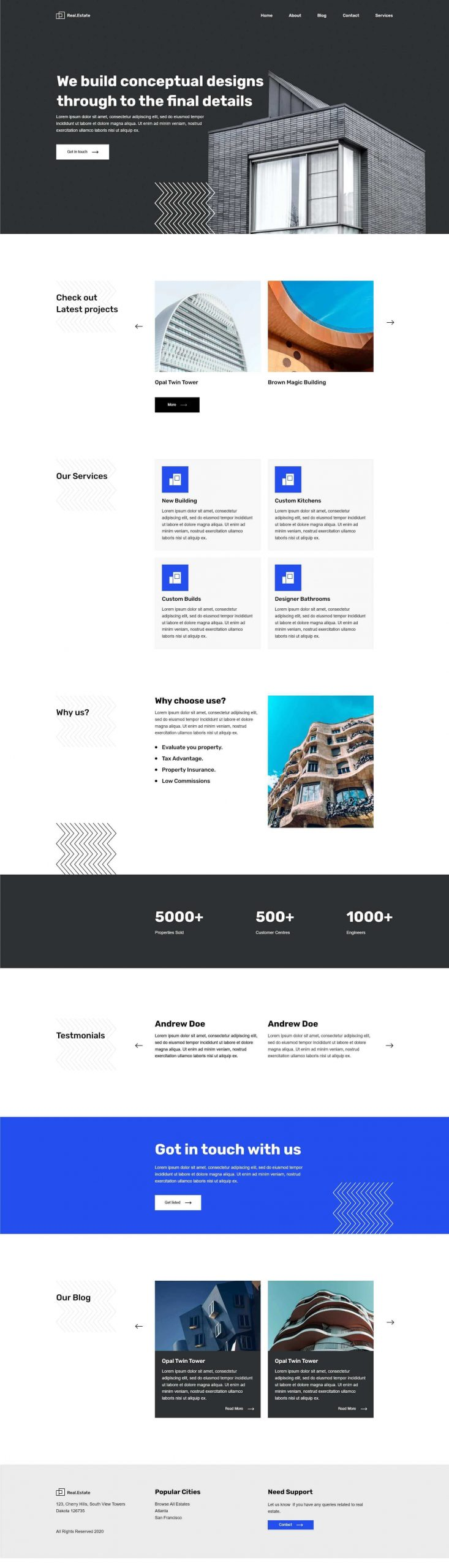 PowerPack Elements Template - Real Estate