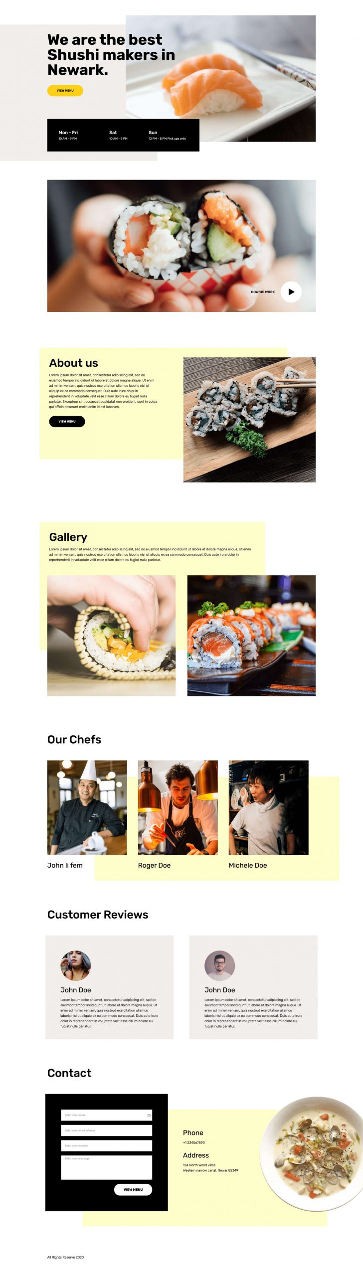 PowerPack Elements Template - Restaurant