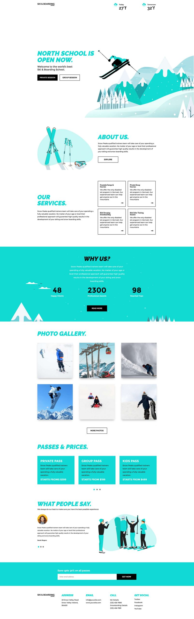 PowerPack Elements Template - Ski Board