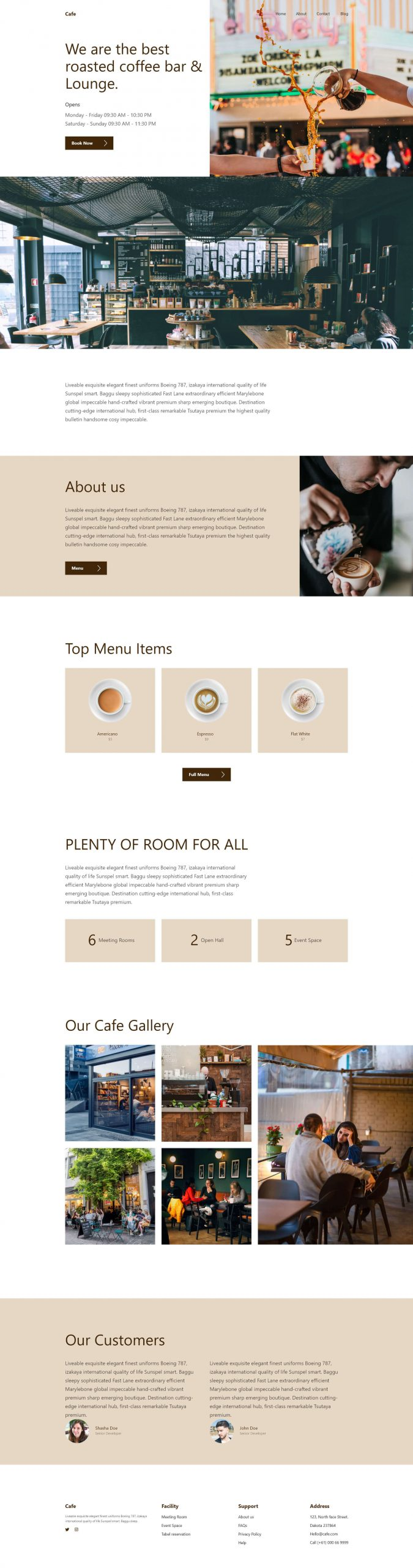 PowerPack Elements Template - Cafe