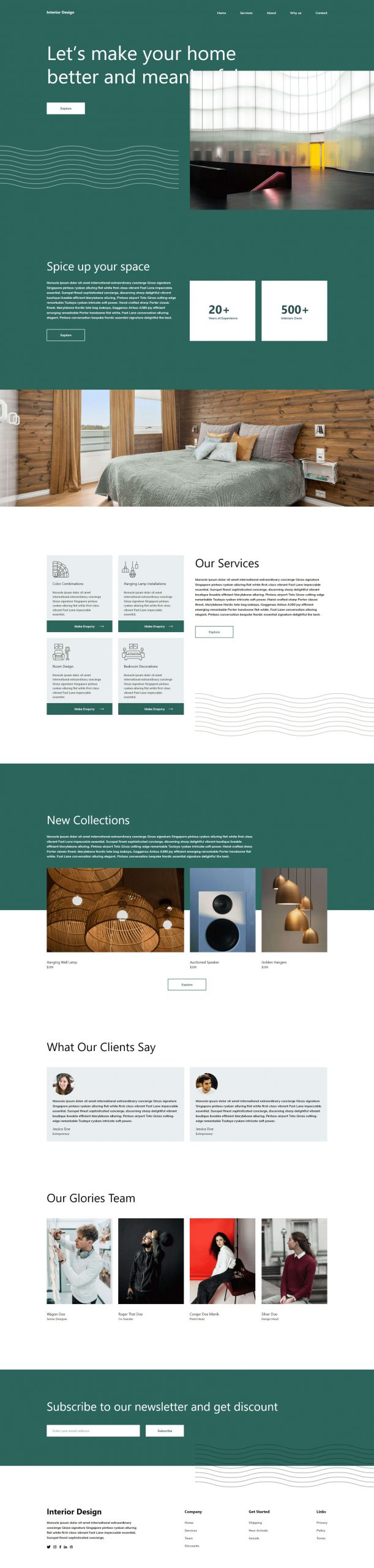 PowerPack Elements Template - Interior Design