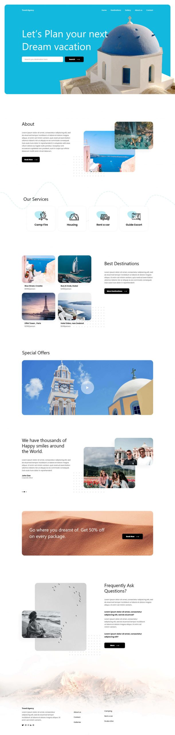 PowerPack Elements Template - Travel Agency