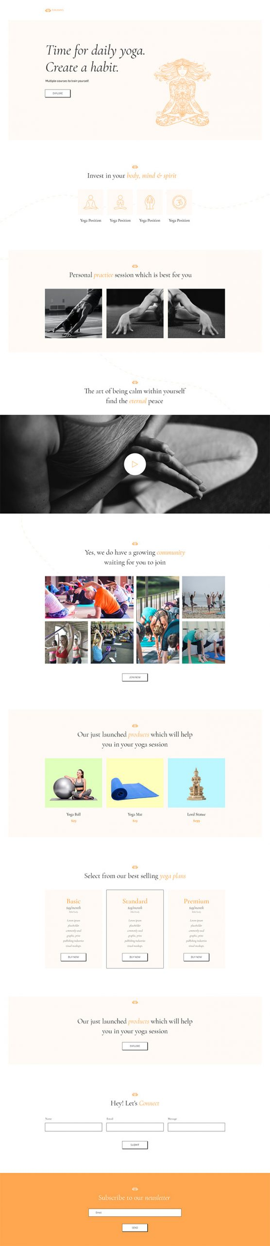 PowerPack Elements Template - Yoga